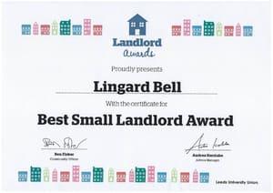 2012 award certificate